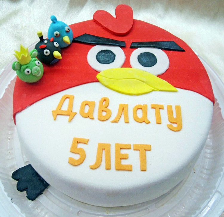 Отзыв о Торте Angry Birds от tort-kazan.ru