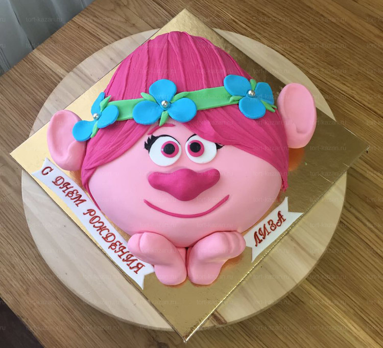 Отзыв о торте Розочка Тролли от tort-kazan.ru