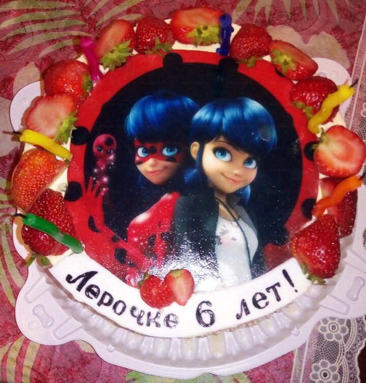 Отзыв о торте леди Баг от tort-kazan.ru
