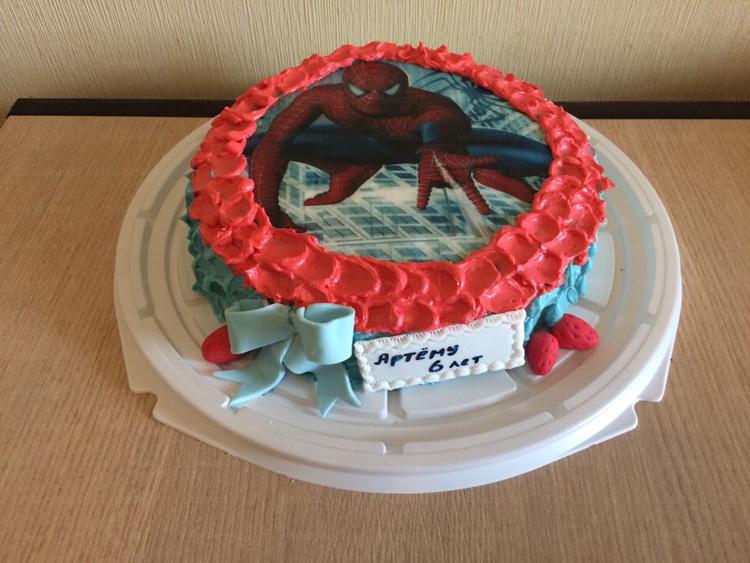 Отзыв о торте Человек-паук от tort-kazan.ru