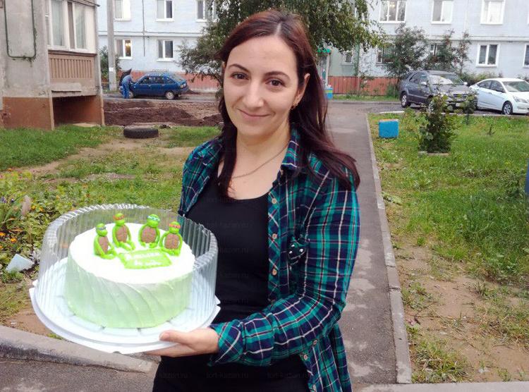 Отзыв о торте черепашка ниндзя от tort-kazan.ru