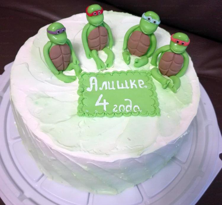 Отзыв о торте с черепашками ниндзя от tort-kazan.ru