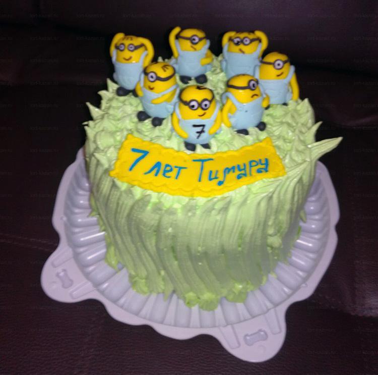 Отзыв о торте с миньонами от tort-kazan.ru