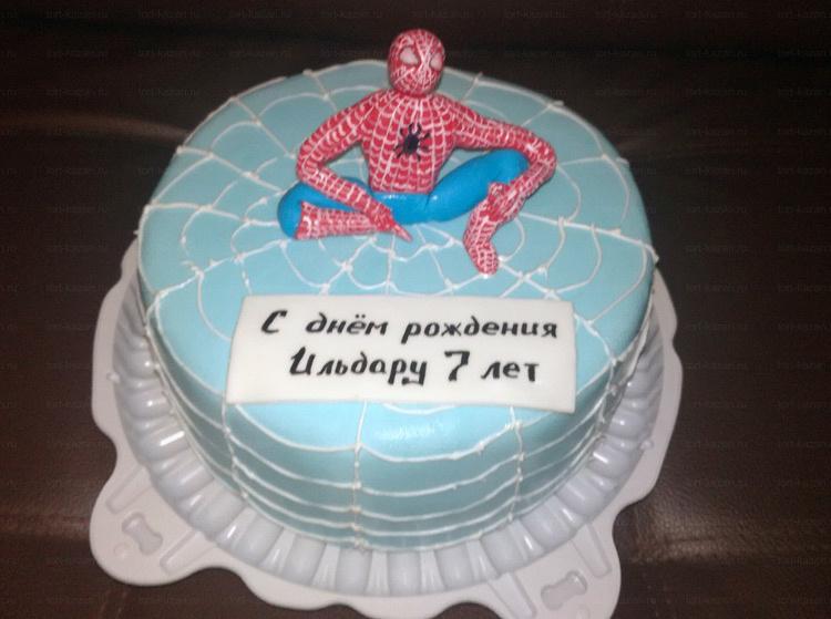 Отзыв о торте с человеком пауком от tort-kazan.ru