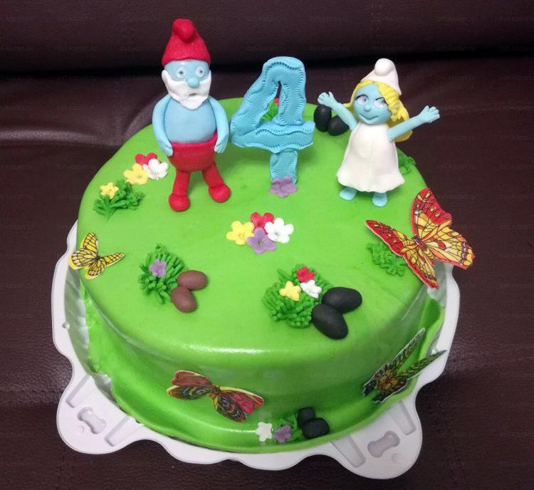 Отзыв о смурфном торте от tort-kazan.ru