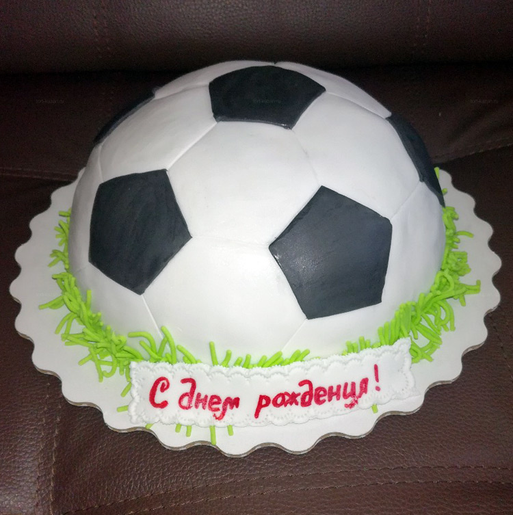 Отзыв о торте для футболиста от tort-kazan.ru